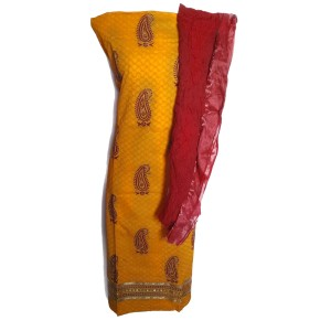 CADM002_01_YELLOW_RED BANDHANI DUPATTA