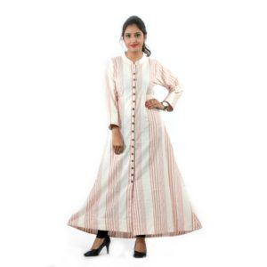 Striped A Line Kurti For Everyday Work